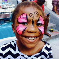 Pink Butterfly Face Painting