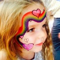 Rainbow Face Painting