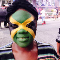 Jamaican Flag Face Paint